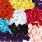 DIY 50/100PCS Satin Ribbon Rose Flower DIY Craft Wedding Appliques 15mm