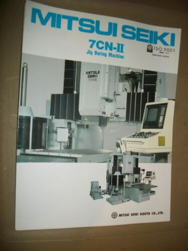 Metalworking Manuals, Books & Plans MITSUI SEIKI CNC JIG GRINDING ...