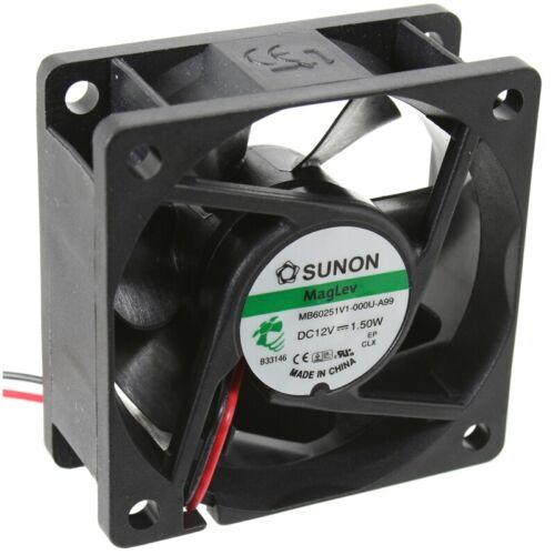 MF60251V2-1000U-A99 Axial-Lüfter 60x60x25mm 12VDC 32,78m³//h 32dBA FAN Sunon