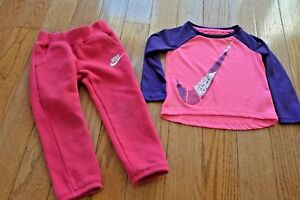 Girls 2 Pieces Pant Set Long Sleeve Football Top Legging Pant Clothing Set 2T-8