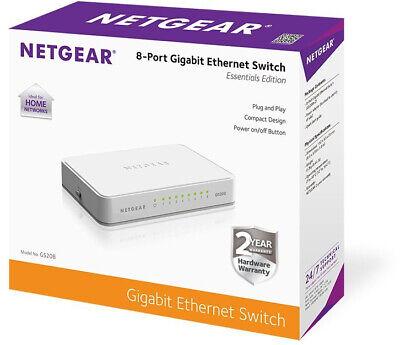 Fa Internet Splitter Desktop NETGEAR 8-Port Gigabit Ethernet Unmanaged Switch