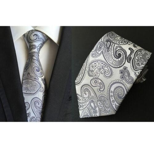 Men's 8cm Jacquard Necktie Paisley Flower Polyester Wedding Party Tie HZ021