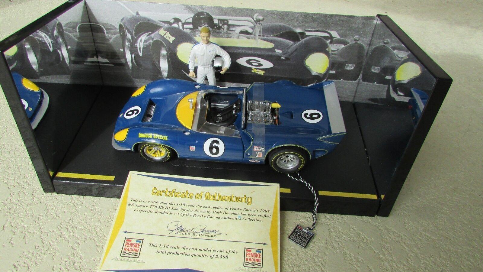Gmp Mark Donohue Voiture de de de Course & Figurine 1:18 Penske Sunoco T70 Mk Chevy | Fabrication Habile  | En Ligne  cea0d3