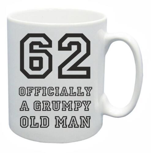 62nd Nouveauté Cadeau D/'Anniversaire Présent Thé Mug Grincheux Old Git Vieux de 62 ans Tasse à café