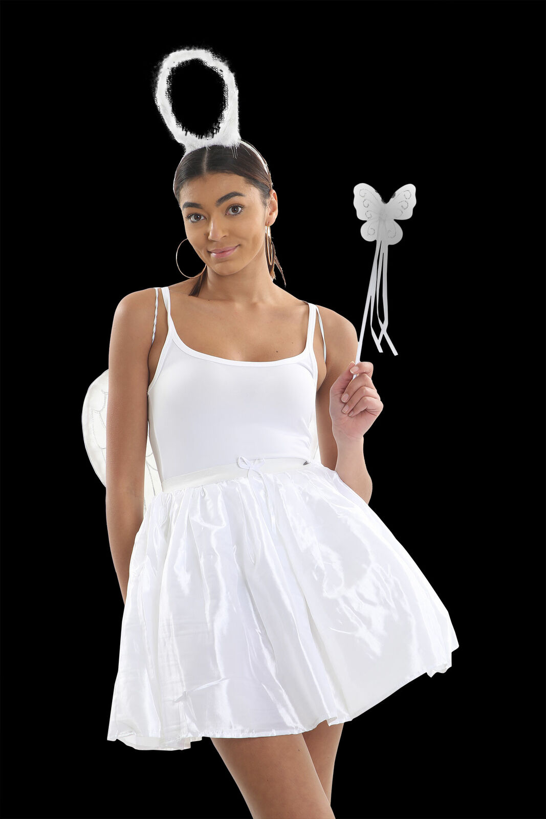 WHITE ANGEL TUTU SKIRT WOMENS 3 LAYER SATIN BALLET DANCE FANCY DRESS HEN PARTY