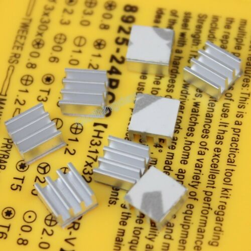 100pcs 7x7x3.5mm Heatsink with Tape For Motherboard DDR RAM Memory Chipset 7mm