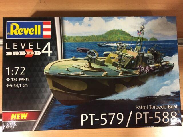 REVELL,PATROL TORPEDO BOAT PT-579/PT-588,ESCALA 1:72,REF.05165