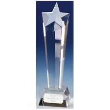 KK005A TOWERING STAR  CRYSTAL TROPHY SIZE 23 CM FREE ENGRAVING