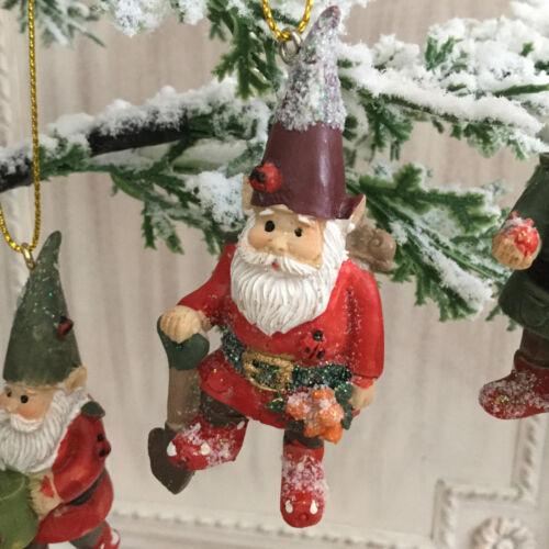 Garden Gnome Arbre de Noël décoration Fun Gisela Graham jardinier Cadeau Nouveauté