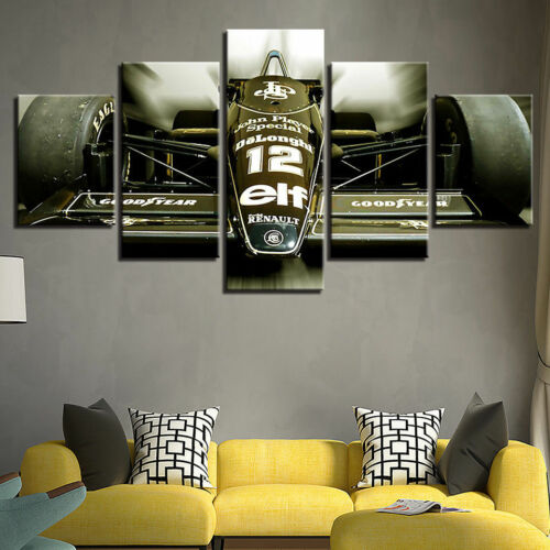 Formula 1 Sport Car Racing 5 panel canvas Wall Art Home Decor Poster Print