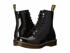 Dr. Martens Women's 1460 W Black Patent Leather Ankle Boots ...