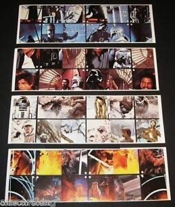 Star-Wars-Empire-Strikes-Back-Burger-King-Promo-Sticker-4-Card-Panels-Set-1980