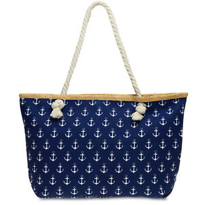 Image Is Loading Caspar Ts1022 Women S Beach Tote Bag Summer