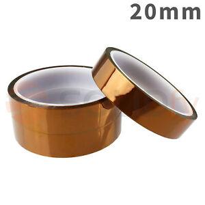 20mm-Polyimide-Tape-Hitzebestaendiges-Klebeband-Polyimid-Kapton-3D-Drucker-33m