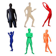 Full Body Lycra Spandex Skin Suit Catsuit Halloween Party Zentai Costumes L