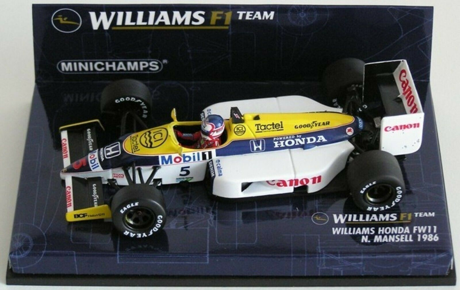 WOW estremamente raro Williams FW11 HONDA Mansell Brands Hatch 1986 1 43 Minichamps