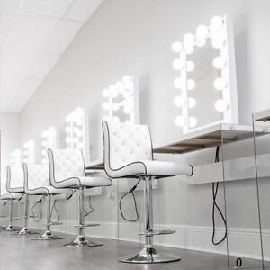 Image Is Loading White Hollywood Makeup Vanity Mirror With Light Dimmer