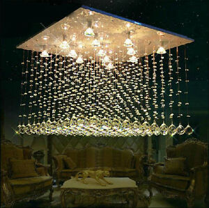 LED-Modern-K9-Clear-Crystal-Ceiling-Light-Pendant-Lamp-Chandelier-Lighting-3890