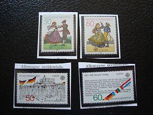 Deutschland-BRD-Briefmarke-Yvert-Und-Tellier-N-928-929-962-963-N-A22