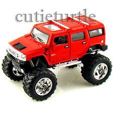 Kinsmart Off Road Big Foot Monster 2008 Hummer H2 SUV 1:40 Diecast Toy Car Red