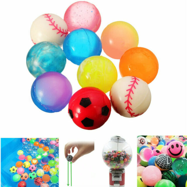 20-50Pcs 27mm Colorful Bouncy Jet Balls Kids Toy Birthday Party Loot Bag Filler