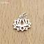 Sterling-Silver-Lotus-Flower-Yoga-Zen-Namaste-Pendant-Charm-Necklace-Bracelet-I thumbnail 1