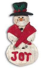 SNOWMAN  Handmade Polymer Clay Christmas Ornament  Country Antique Style - OAK