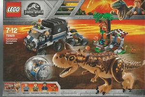 LEGO-JURASSIC-WORLD-75929-CARNOTAURUS-GYROSPHERE-ESCAPE-new-nuovo-NIB-3-minifig