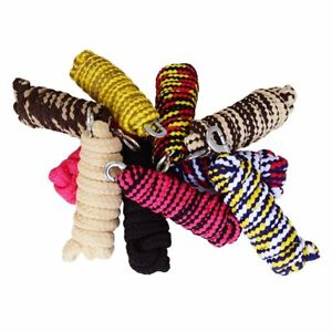 2 Metre Strong Twisted Cotton Horse Dog Lead Rope with Panic Clip Snap Hook