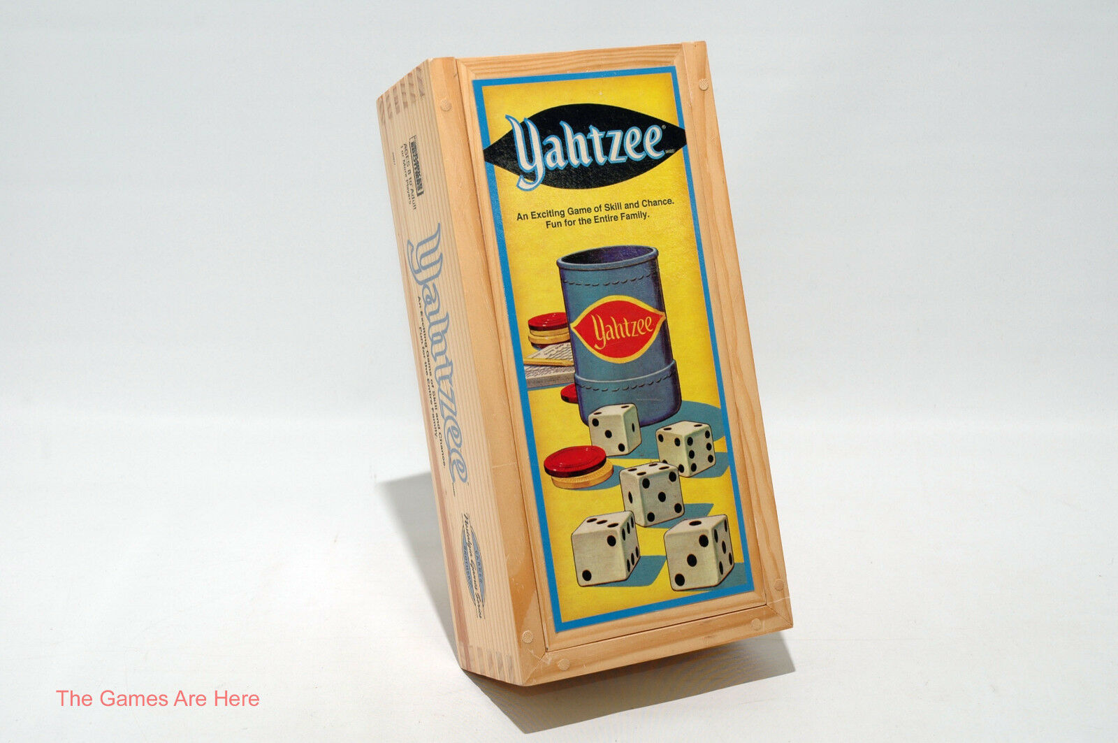 Yahtzee Nostalgia Games Series in Wooden Box Parker Bredhers 2004 COMPLETE