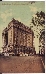 Argentina-Buenos-Aires-Plaza-Hotel-1917-postcard
