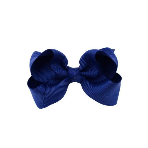 """3 /""""Grosgrain Ribbon Hair Bögen mit Clips Mädchen Kinder Haarspangen Headwear"""
