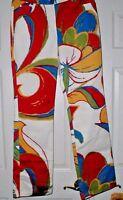 Yansi Fugel Abstract Print Pants Sz 6 28 Waist 34 Inseam Xs Jeans [2?]