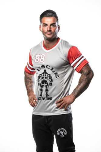 Mens NFL T-shirts American Football Jersey Training Top Gym Fitness Wear Fashion