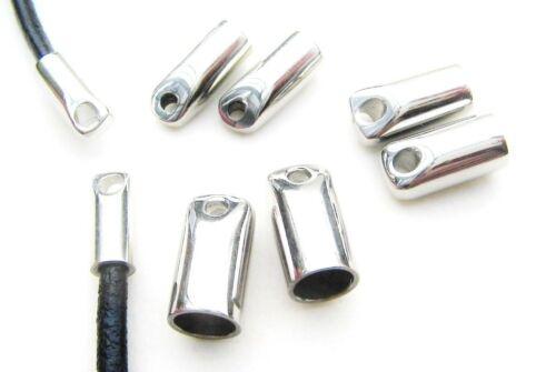 Edelstahl Metallkappen Endkappen Kappen für Bänder 3-6mm SERAJOSY