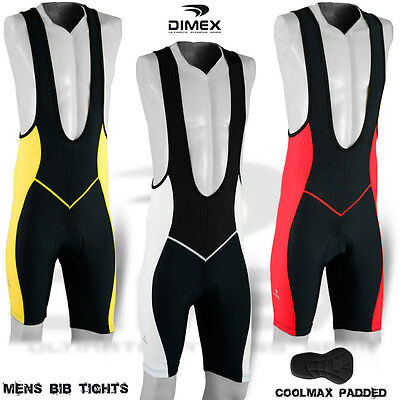 Mens Cycling Bib Tight Shorts CoolMax Anti-Bac Padded MTB Bike Legging M, L, XL