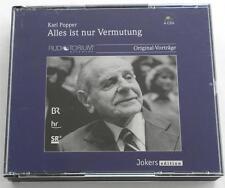 Karl Popper:  Alles Ist Nr Vermutang  4 CD Set  Audiotorium Original-Vortrage