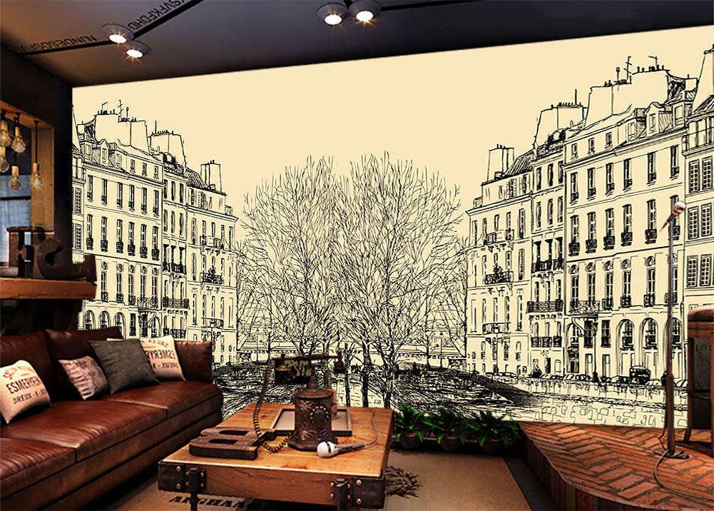 SacROT Building 3D Full Wall Mural Photo Wallpaper Printing Home Kids Decor