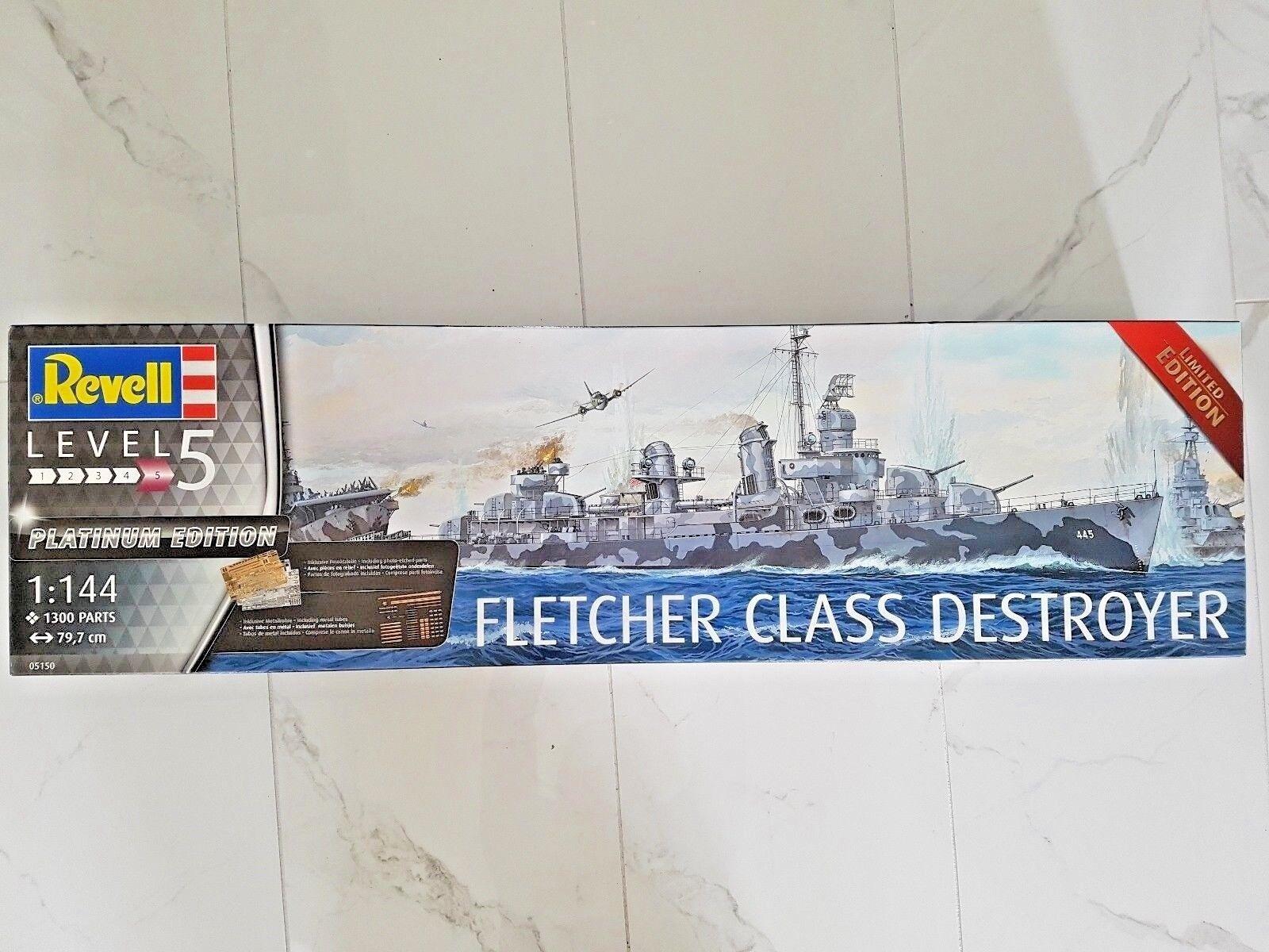 REVELL 1 144 PLATINUM LTD EDIT WW II US NAVY FLETCHER CLASS DESTROYER 05150 F S