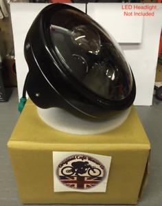 7-034-Inch-Motorbike-Headlight-Assembly-Casing-for-LED-Headlight-Headlamp-Black-UK