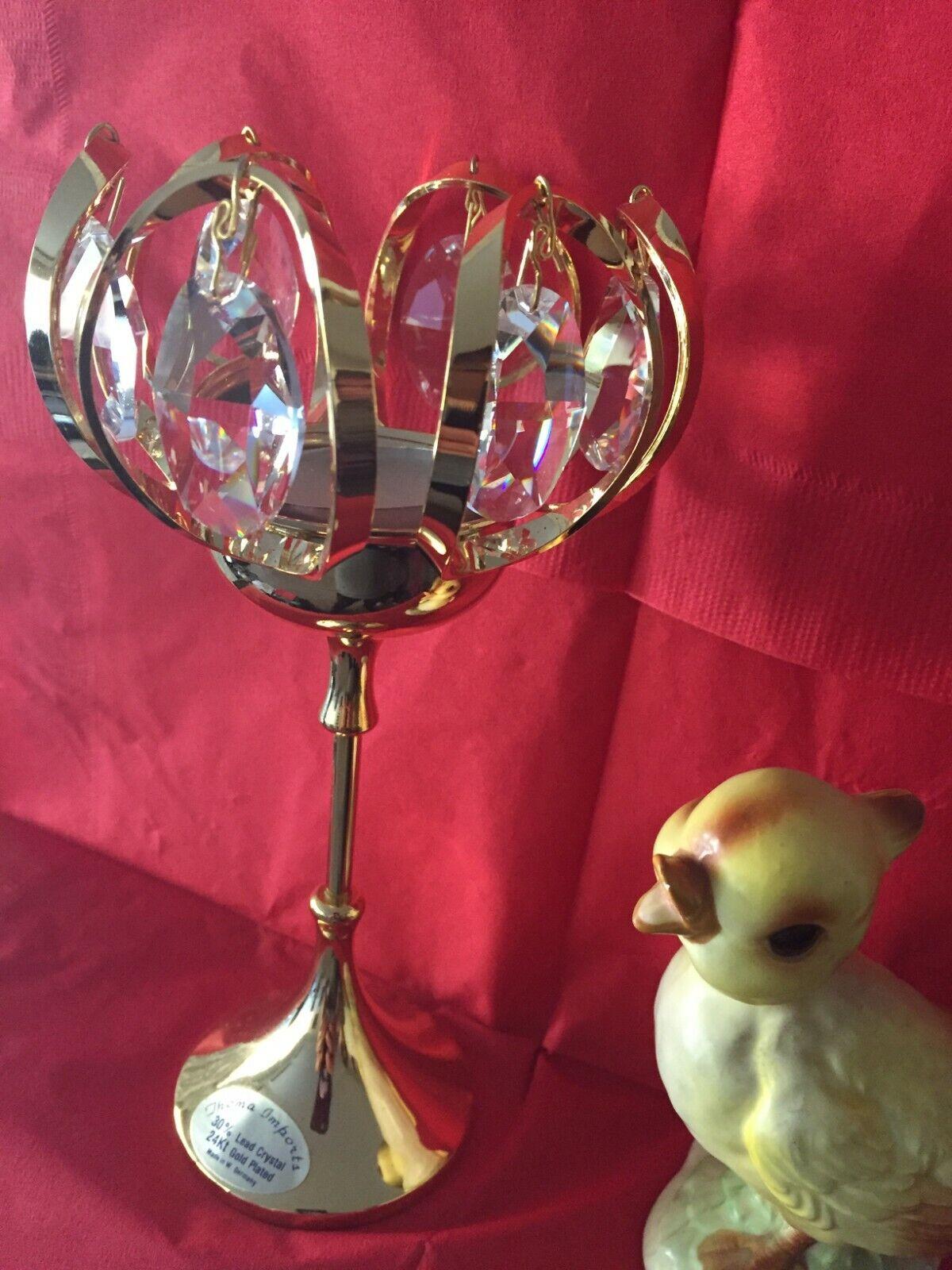 Candle Holders, votive candle holder, Pillar Table, Swarovski crystal, vintage
