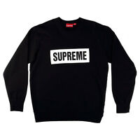 Supreme Mens Box Logo Crewneck Sweatshirt Black Size Xl