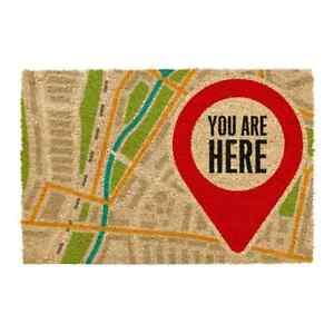 You Are Here Large Indoor Outdoor Mat Non Slip Coir Doormat Front Door Matt Rug 8011674750308 Ebay