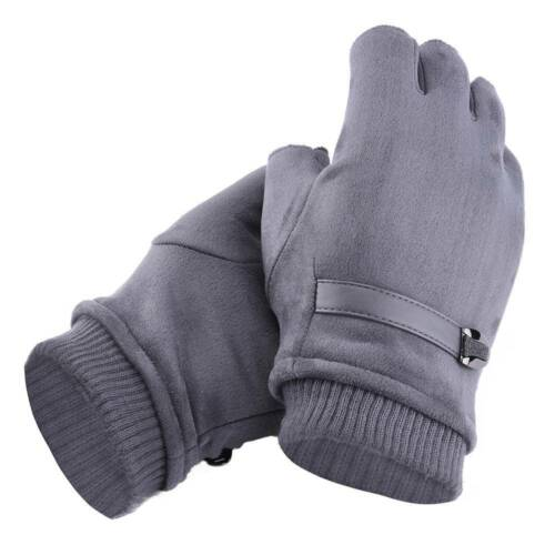 Mens Thermal Fingerless Stretch Gloves Grip Gripper Sport Half Finger Winter US