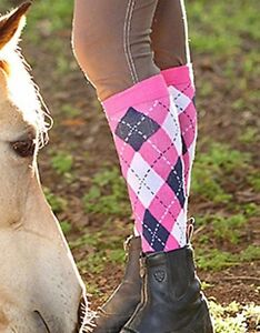 Girls Ladies knee High Horse Riding Cotton Rich Socks Equestrian Riding Socks.