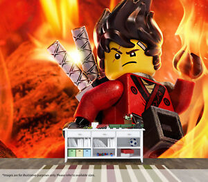 Image Is Loading Lego Ninjago Movie Kai Fire Red Wall Mural
