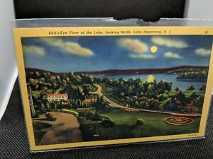 POSTCARD-Birds-eye-View-of-the-Lake-Looking-North-Lake-Hopatcong-NJ-B-2