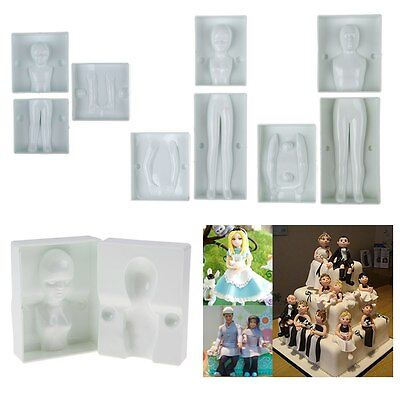 3D Human Body Man Women Child Shape Modeling Cake Fondant Gum Paste Decor Mold