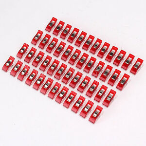 50pc-Lot-Red-Wonder-Clips-for-Fabric-Quilting-Craft-Sewing-Knitting-Crochet-Tool