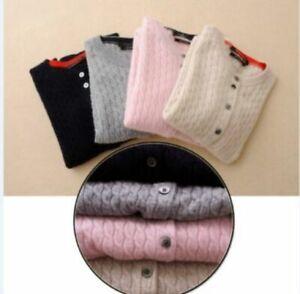 Round-Neck-Cashmere-Sweater-Women-Wool-Cardigan-Autumn-Winter-Long-Sleeve-Knit